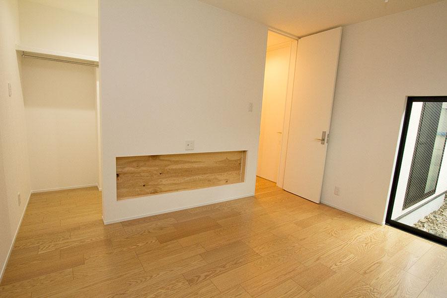 開放的なリビングのお家 洋室1