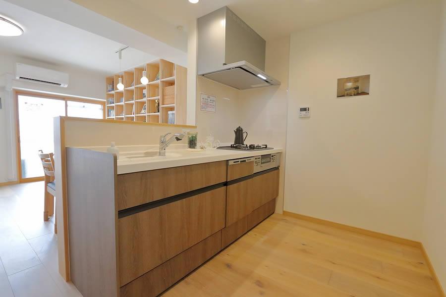 本と暮らす家 キッチン2